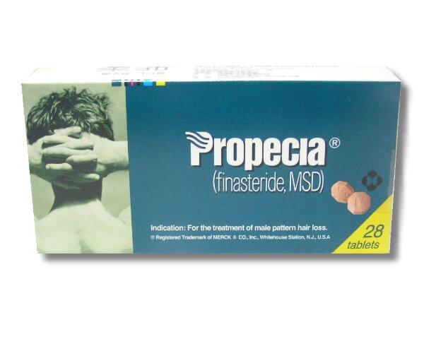 Propecia柔沛藥盒外觀